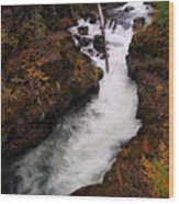 Natural Bridge Gorge Wood Print