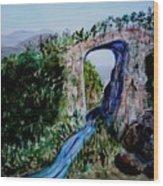 Natural Bridge In Virginia Wood Print