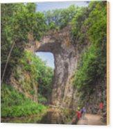 Natural Bridge - Virginia Landmark Wood Print