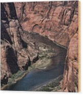 Natural Colorado River Page Arizona  Wood Print