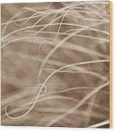 Natural Curls Wood Print