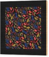 Natural Floral Pattern Wood Print