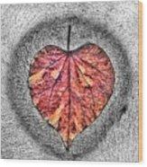 Natural Heart Wood Print