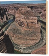 Natural Horseshoe Bend Arizona  Wood Print