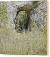 Natural Limestone Arch At Dove Valley Wood Print