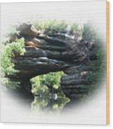 Natural Rock Bridge Looking Toward The Dam   Wood Print