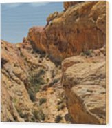 Natural Staircase Valley Of Fire Wood Print