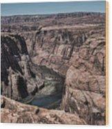 Natural View Colorado River Page Arizona  Wood Print