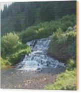 Natural Waterfall Wood Print