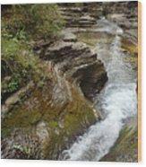 Natural Waterslide Wood Print
