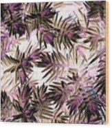 Nature Abstract In Pink And Brown Wood Print