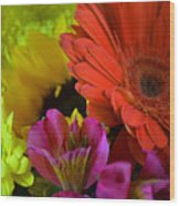 Nature Colorful Bouquet Wood Print