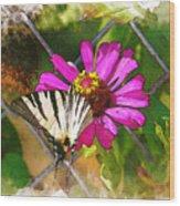 Butterfly In Love Wood Print