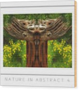 Nature In Abstract 4 Poster Wood Print