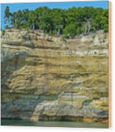 Nature Made- Indian Head Pictured Rocks Wood Print