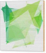 Nature Polygon Pattern Wood Print