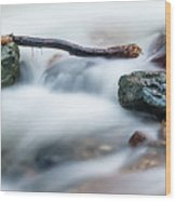Natures Balance - White Water Rapids Wood Print