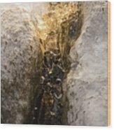 Natures Creativity - Golden Crevasse Wood Print