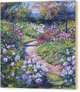 Nature's Garden Wood Print by David Lloyd Glover
