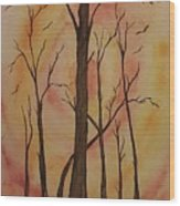Natures Guardian Wood Print by Ginny Youngblood