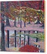 Natures Painting Wood Print