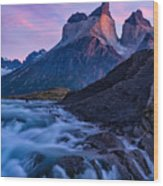 Nature's Sunrise Canvas Wood Print