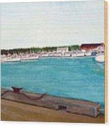 Naufrage Harbour Pei Wood Print