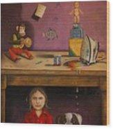 Naughty Child Wood Print