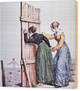 Naughty Ladies 19th Century Wood Print