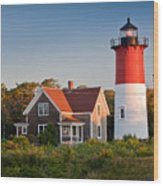 Nauset Beach Light Wood Print