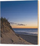 Nauset Beach Sunrise Wood Print