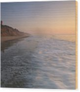 Nauset Light On The Shoreline Of Nauset Wood Print by Michael Melford