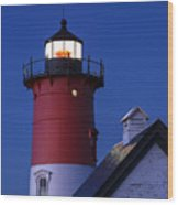 Nauset Lighthouse Night Wood Print