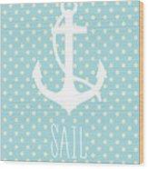 Nautical Anchor Wood Print