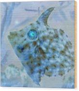 Nautical Beach And Fish #4 Wood Print