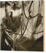 Nautical Dreams In Sepia Wood Print