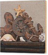 Nautical Still Life Iv Wood Print