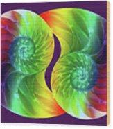 Nautilus Rainbow Wood Print