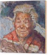 Navaho Wisdom Wood Print by Ellen Dreibelbis