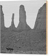 Navajo Horses Wood Print