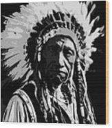 Navajo Indian Chief Wood Print
