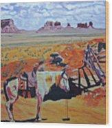 Navajo Ponies Wood Print