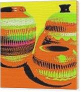 Navajo Pots Wood Print