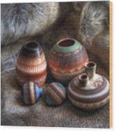 Navajo Pottery Wood Print
