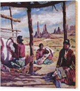 Navajo Weavers Wood Print