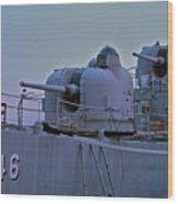 Naval Gun Wood Print