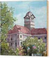 Navarro County Courthouse Wood Print