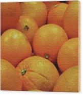 Navel Oranges Wood Print