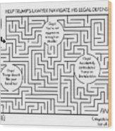 Navigate The Trump Legal Defense Wood Print