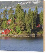Navigating The Hjeltefjorden In Hordaland Wood Print